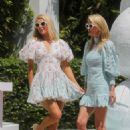 Paris and Nicky Hilton – Posing for pictures at W Hotel in Miami Beach