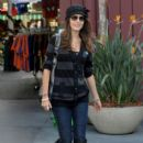 A chic Camilla Belle has a business meeting at The Grove in Los Angeles