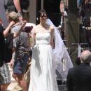 Mandy Moore - Shooting Wedding Scenes In New Orleans, 2010-04-27