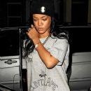 Rihanna Visiting 3 different studios in same night London Uk
