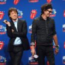 The Rolling Stones answers questions during the Sprint Half Time Show Press Conference at the Renaissance Center on February 2, 2006 in Detroit, Michigan - 413 x 594