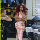 Blac Chyna at Spilled Ink Tattoo in Encino, California - June 17, 2016 - 454 x 588