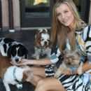 Joanna Krupa With Her Dogs out in Los Angeles - 454 x 371
