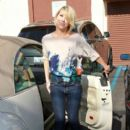 Chelsea Kane arrived at a studio in Los Angeles, May 13, to continue rehearsals for Dancing With the Stars.