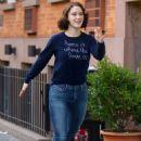 Rachel Brosnahan – 'The Marvelous Mrs. Maisel' Filming Rehearsals in Chelsea, New York - 454 x 656