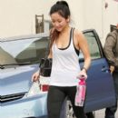 Brenda Song looks fit as she makes her way out of a workout class in Los Angeles