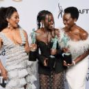 Angela Bassett, Lupita Nyong'o, and Danai Gurira At The 25th Annual Screen Actors Guild Awards (2019) - 454 x 322