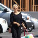 Malin Akerman in Black – Shopping in Los Angeles