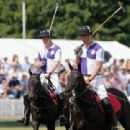 Prince William and Prince Harry at The Jerudong Trophy at Cirencester Park Polo Club (July 14)