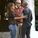 Halle Berry in Jeans at Cecconi's in West Hollywood