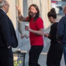 Dave Grohl is seen at 'Jimmy Kimmel Live' in Los Angeles, California - 419 x 600