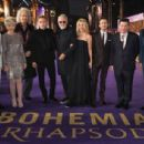 Genevieve Potgieter and other celebrities attend the World Premiere of 'Bohemian Rhapsody' at The SSE Arena, Wembley, on October 23, 2018 in London, England