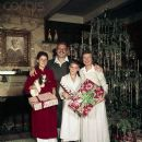Leon Ames and Family Posing with Christmas Gifts