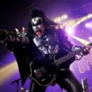 Gene Simmons of US rock group Kiss performs live on stage, for a one-off Independence Day show as a fundraiser for the Help for Heroes charity, at The Kentish Town Forum on July 4, 2012 in London, England