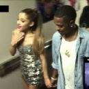 Ariana Grande and Big Sean were seen holding hands on a VMAs hallway cam on Sunday, August 24,2014 - 454 x 295