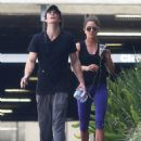 Nikki Reed and Ian Somerhalder Leave the Gym (July 25, 2014)