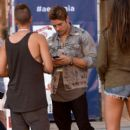 Actor Josh Henderson (C) attends American Eagle Outfitters Celebrates The Budweiser Made in America Music Festival during day 2 at Los Angeles Grand Park on August 31, 2014 in Los Angeles, California