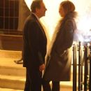 Charles Saatchi and Trinny Woodall were seen getting rather close outside 34 restaurant on Thursday evening - 454 x 614