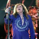 "David Coverdale of Whitesnake performs at The Joint inside the Hard Rock Hotel & Casino as the band tours in support of ""The Purple Album"" on June 4, 2015 in Las Vegas, Nevada."