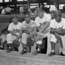 Roy Campanella,  Larry Doby, Don Newcombe & Jackie Robinson - 454 x 373