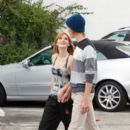 Bella Thorne attended dance rehearsals with iam5 yesterday, July 13, in Los Angeles. She was joined by her boyfriend, Tristan at the rehearsals