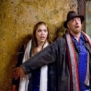 "The naïve Megan (Shoshana Bush, left) with her dad, Ron (Chris Elliott, right), in the comic spoof ""Dance Flick."" Photo Credit: Glen Wilson. Copyright ©2009 by PARAMOUNT PICTURES CORPORATION. All Rights Reserved."