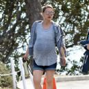 Natalie Portman: out for a morning hike in Los Feliz