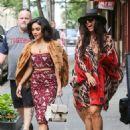 Vanessa Hudgens In Red Tight Dress Leaving Her Apartment In Soho