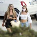 Kate Moss and Lila Grace and Rita Ora – Out for a lunch in Ibiza