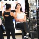Brittny Gastineau gets her make up done in Beverly Hills, California on August 4, 2016 - 454 x 553