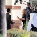Mandy Moore – On the set of 'This Is Us' in Pasadena