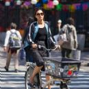 Famke Janssen – Riding her bike in New York City