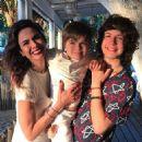 Luciana Gimenez with her sons Lorenzo Fragali and Lucas Jagger - Ilhabela, Sao Paulo - Brazil - 2017 - 454 x 454