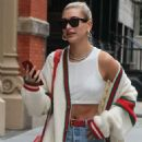Hailey Baldwin in Jeans and Tank Top out in New York