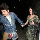 Katy Perry and John Mayer:Osteria Mozza West Hollywood