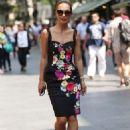 Myleene Klass in Floral Dress out in London - 454 x 655