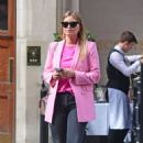 Holly Valance – In a pink blazer out in London - 454 x 769