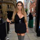 Charlotte Dawson in Black Mini Dress – Out in Manchester - 454 x 678