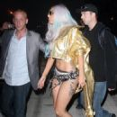 Lady GaGa In Underwear Etc - JFK Airport - Sep 13, 2010
