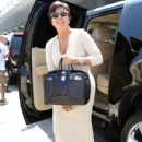 Kris Jenner with daughters are seen departing on a flight at LAX airport in Los Angeles, California on July 31, 2014