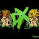 Cartoon of HBK and Triple H with DX Logo