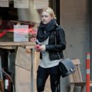 Dakota Fanning was spotted heading to the gym this morning, October 6, in New York City
