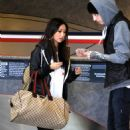 Trace Cyrus and Brenda Song were spotted at Los Angeles International Airport this morning, October 4
