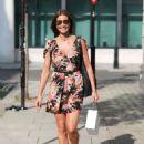 Melanie Sykes in Mini Dress – Out in London