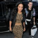 Tulisa Contostavlos Seen At Capital and Global Radio In London