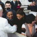 Fancy taking the Popemobile for a spin? Lewis Hamilton and Nicole Scherzinger meet Pope Francis