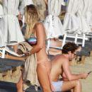 Chloe Meadows in Bikini at the beach in Mykonos - 454 x 679
