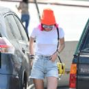 Bella Thorne in Denim Shorts out in Los Angeles - 454 x 800