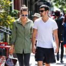 Joe Jonas & his girlfriend Blanda Eggenschwiler have lunch together at Cafe Gitane in New York City, New York on September 13, 2013