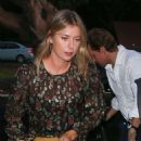 Maria Sharapova in Mini Dress – Arrives at Katsuya restaurant in Brentwood